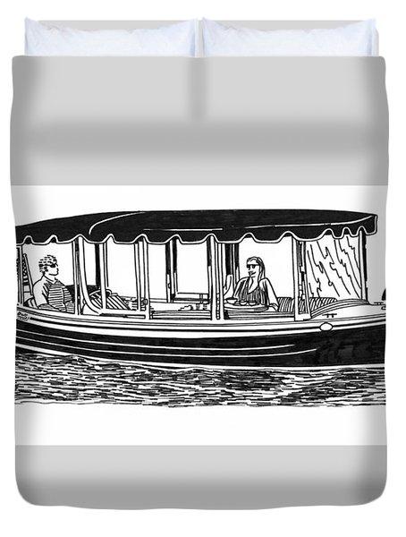 Electric Harbor Launch Duvet Cover by Jack Pumphrey