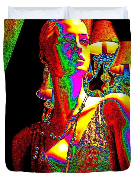 Electric Lady Duvet Cover by Chuck Staley