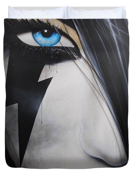 'Electric Sin' Duvet Cover by Christian Chapman Art