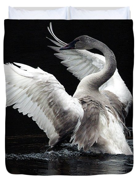 Elegance In Motion 2 Duvet Cover by Sharon Talson
