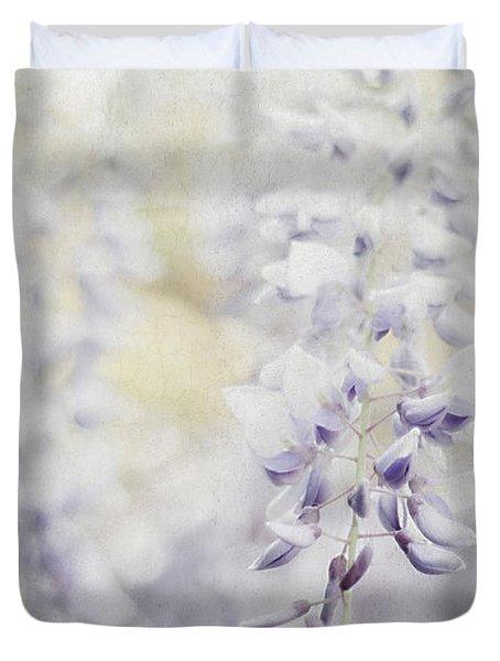 Elegant Wisteria Duvet Cover by Darren Fisher