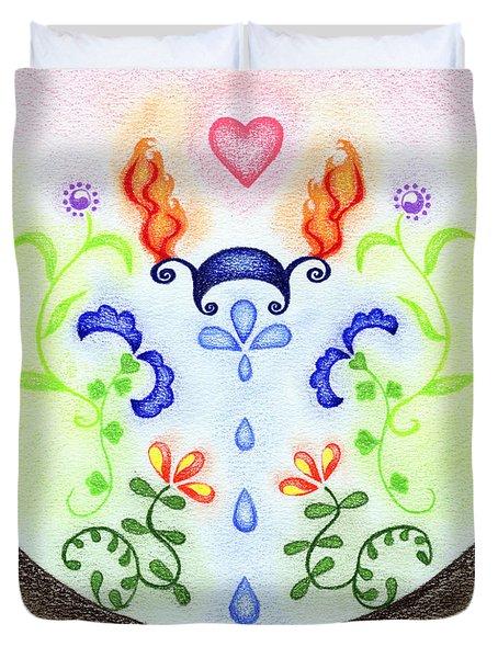 Elements Duvet Cover by Keiko Katsuta