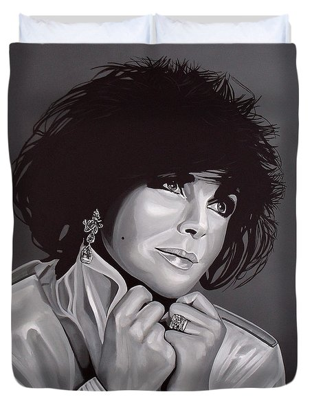 Elizabeth Taylor Duvet Cover by Paul Meijering