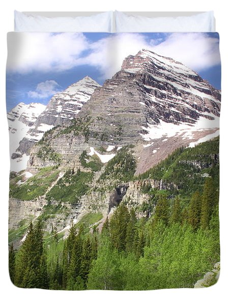 Elk Mountains Duvet Cover by Eric Glaser