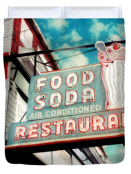 Elliston Place Soda Shop Duvet Cover by Amy Tyler