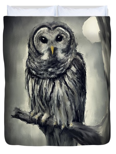 Elusive Owl Duvet Cover by Lourry Legarde
