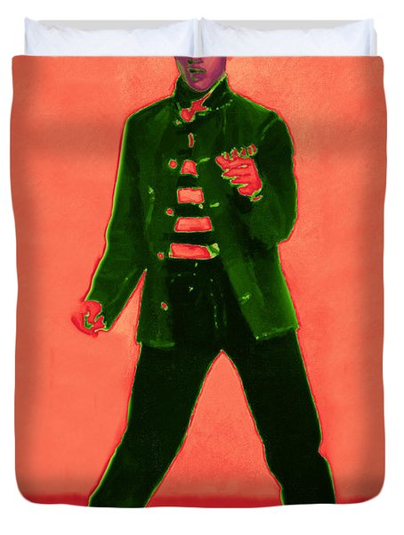 Elvis Is In The House 20130215m40 Duvet Cover by Wingsdomain Art and Photography