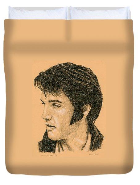 Elvis Las Vegas 69 Duvet Cover by Rob De Vries