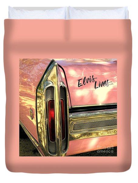 Elvis Lives Duvet Cover by Joe Jake Pratt