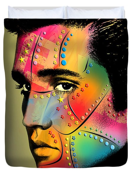 Elvis Presley Duvet Cover by Mark Ashkenazi