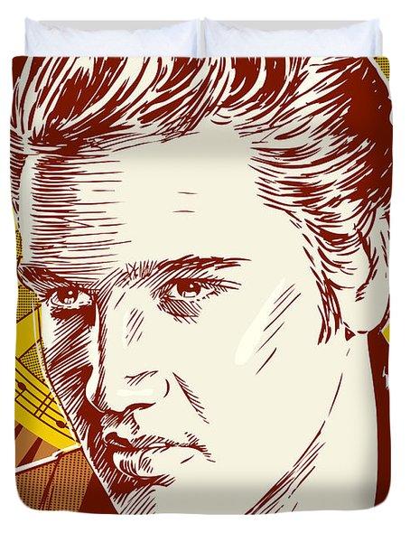 Elvis Presley Pop Art Duvet Cover by Jim Zahniser