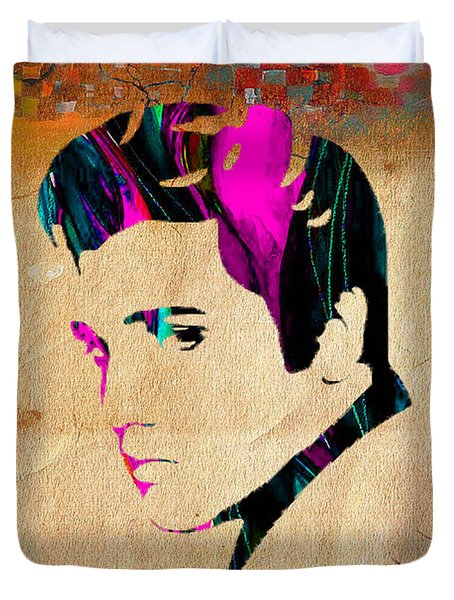 Elvis Presly Wall Art Duvet Cover by Marvin Blaine
