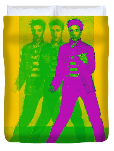 Elvis Three 20130215 Duvet Cover by Wingsdomain Art and Photography