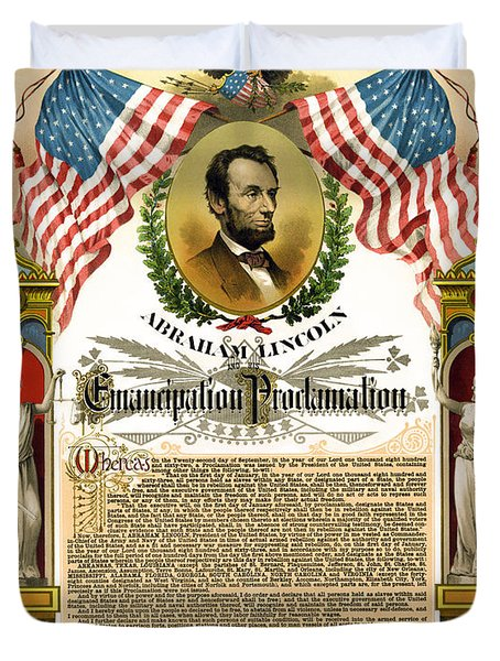 EMANCIPATION PROCLAMATION TRIBUTE 1888 Duvet Cover by Daniel Hagerman
