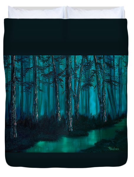 emerald stream Duvet Cover by Tracy Tauber