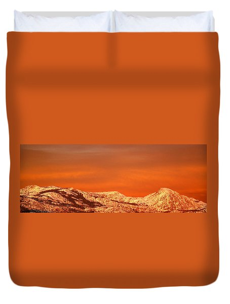 Emigrant Gap Duvet Cover by Bill Gallagher