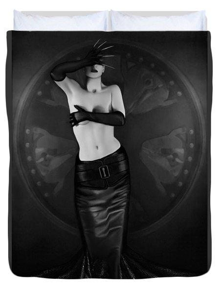 Emotional Blindness - Self Portrait Duvet Cover by Jaeda DeWalt