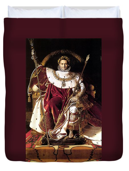Emperor Napoleon I On His Imperial Throne Duvet Cover by War Is Hell Store