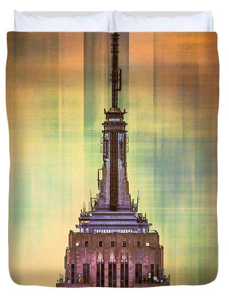 Empire State Building 3 Duvet Cover by Az Jackson