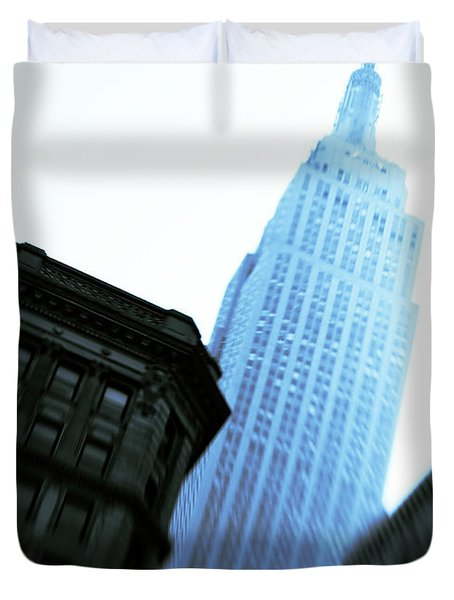 Empire State Building Duvet Cover by Dave Bowman