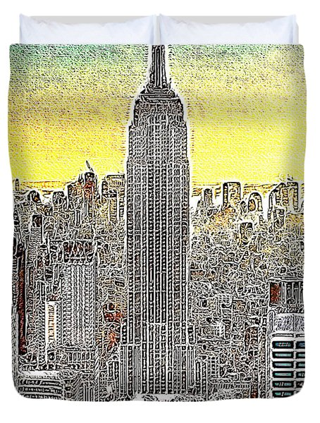 Empire State Building New York City 20130425 Duvet Cover by Wingsdomain Art and Photography