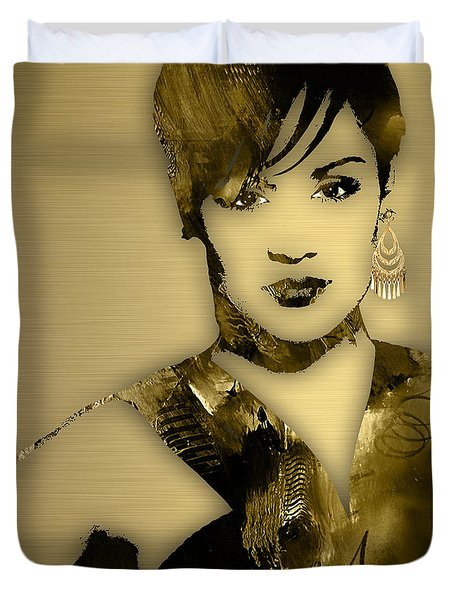 Empire's Grace Gealey Anika Gibbons Duvet Cover by Marvin Blaine