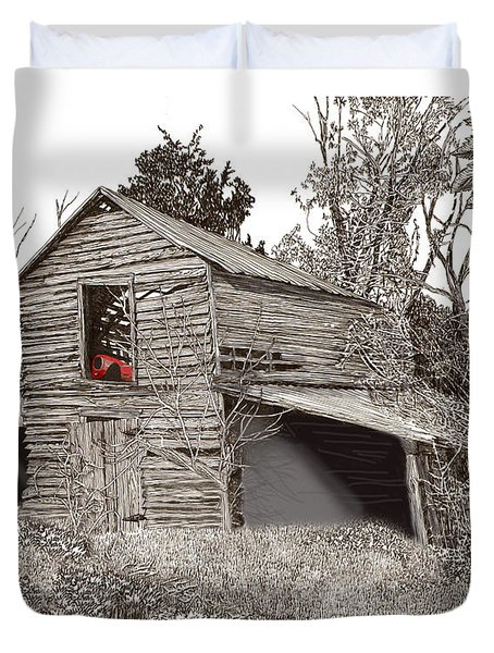 Empty old barn Duvet Cover by Jack Pumphrey