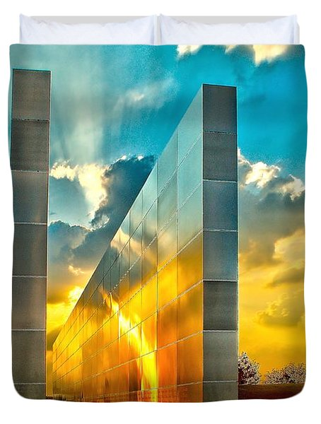 Empty Skies Sunset Duvet Cover by Nick Zelinsky