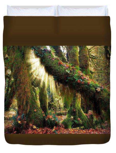 Enchanted Forest Duvet Cover by Inge Johnsson
