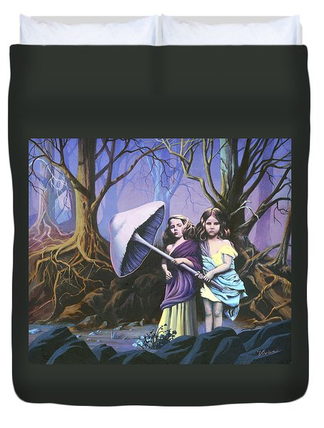 Enchanted Forest Duvet Cover by Vivien Rhyan