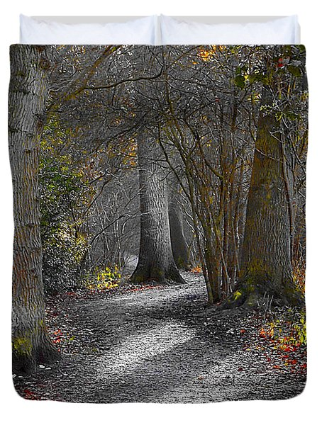 Enchanted Woods Duvet Cover by Linsey Williams