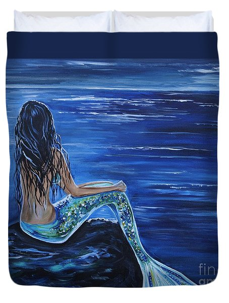 Enchanting Mermaid Duvet Cover by Leslie Allen