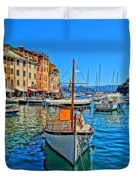 Enchanting Portofino In Ligure Italy Iv Duvet Cover by M Bleichner
