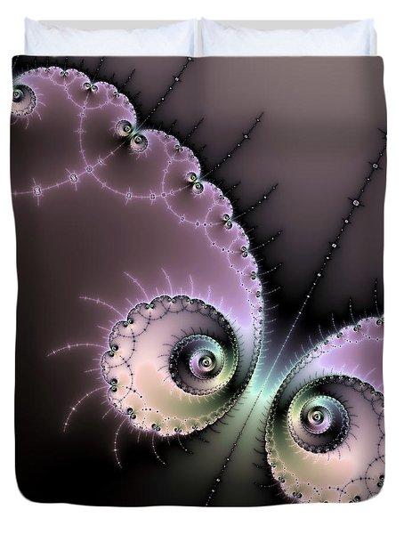 Encounter - Digital Fractal Artwork Duvet Cover by Matthias Hauser