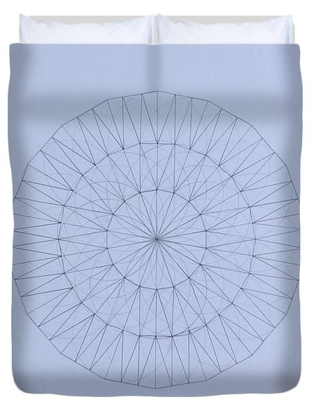 Energy Wave 20 Degree Frequency Duvet Cover by Jason Padgett