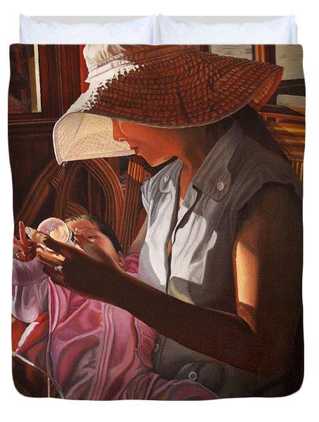 Enfamil At Ha Long Bay Vietnam Duvet Cover by Thu Nguyen