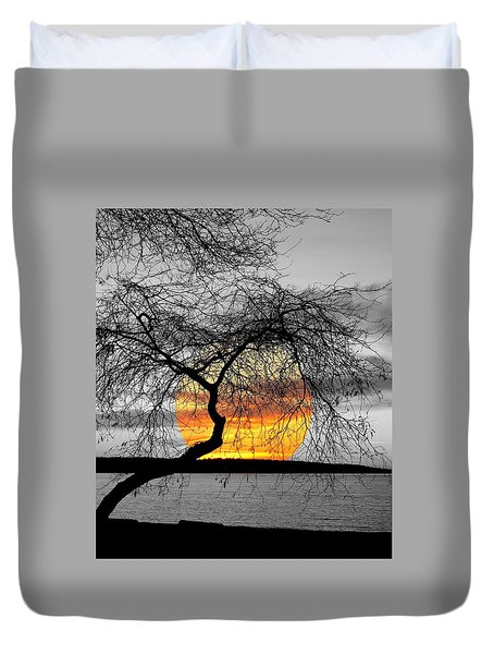 English Bay Sunset Duvet Cover by Brian Chase