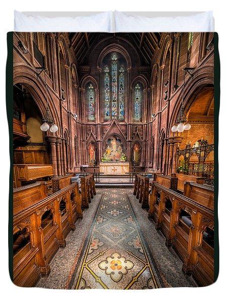 English Church 2 Duvet Cover by Adrian Evans