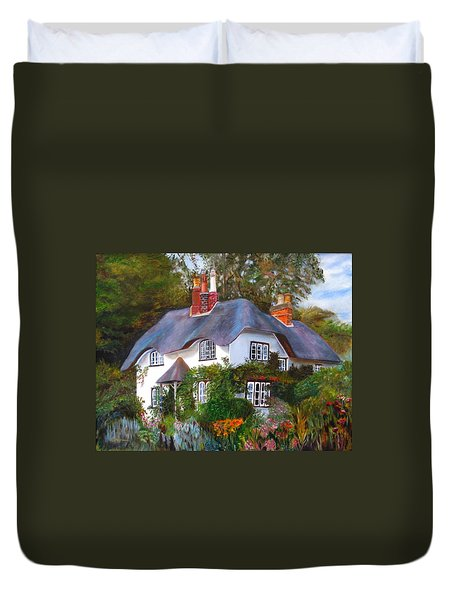English Cottage Duvet Cover by LaVonne Hand
