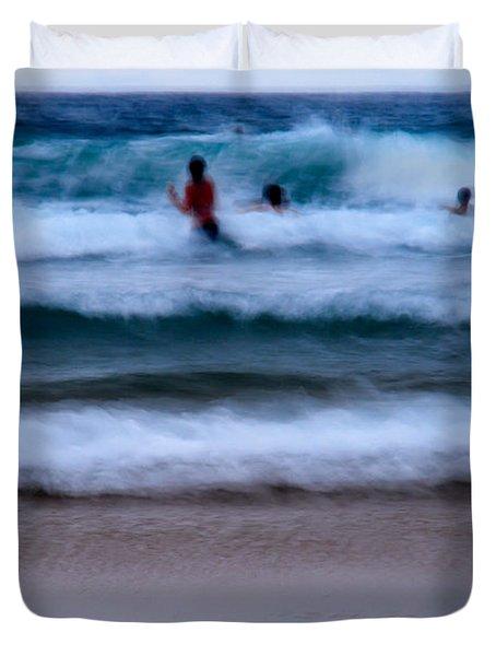 enjoy the ocean I Duvet Cover by Hannes Cmarits