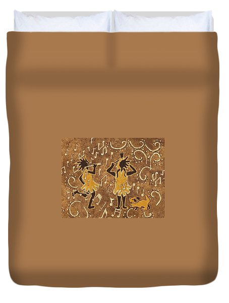 Enjoying The Music Duvet Cover by Katherine Young-Beck