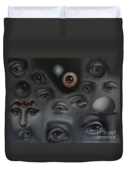 Enter-preyes Duvet Cover by Lisa Phillips Owens