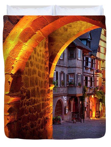 Entry To Riquewihr Duvet Cover by Brian Jannsen