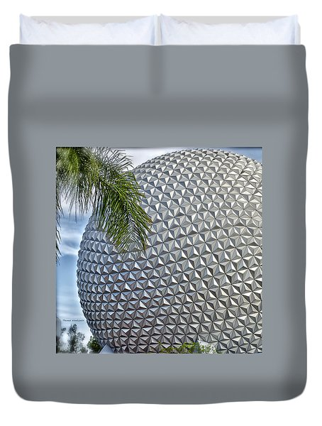 Epcot Globe Duvet Cover by Thomas Woolworth