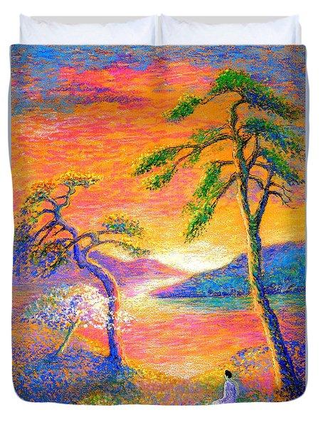 Divine Light Duvet Cover by Jane Small