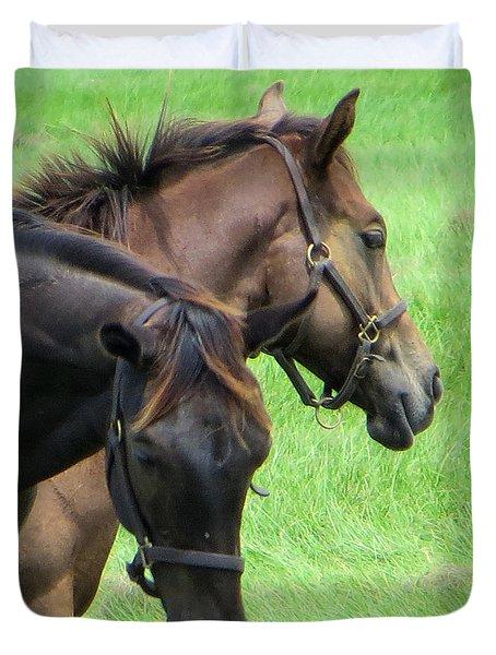 Equine Beauties Duvet Cover by Dorothy Menera