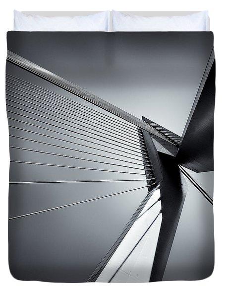 Erasmusbrug Duvet Cover by Dave Bowman