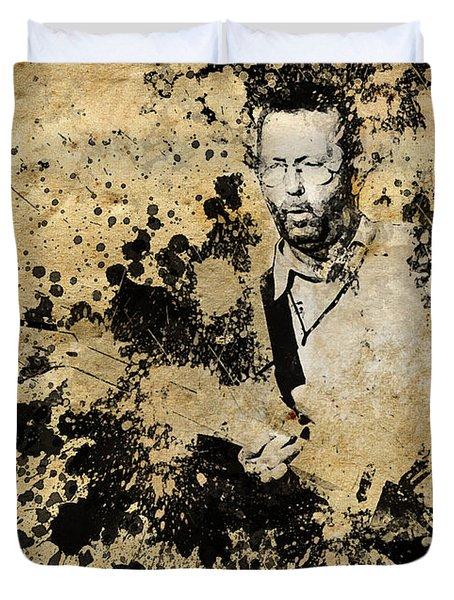 Eric Clapton 3 Duvet Cover by Bekim Art