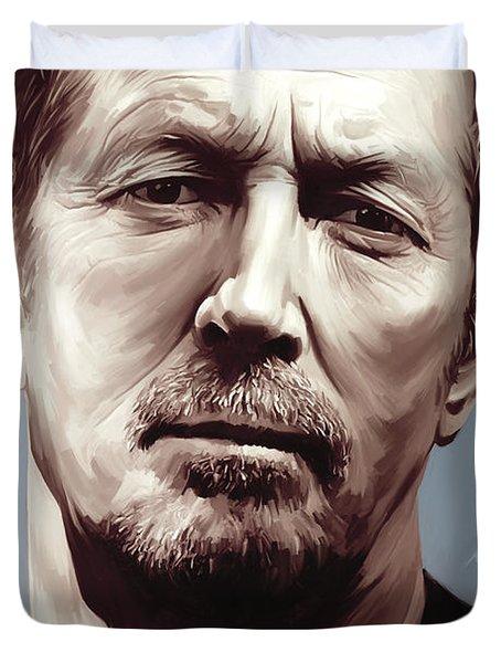 Eric Clapton Artwork Duvet Cover by Sheraz A