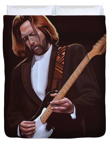 Eric Clapton Duvet Cover by Paul  Meijering